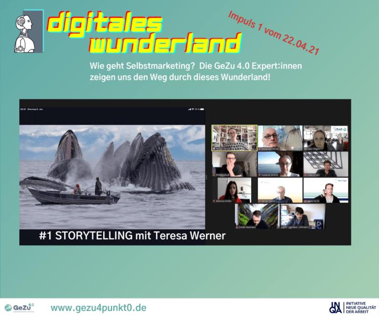 Reise durch das digitale Wunderland – Schritt 1 ist gemacht: Impuls Storytelling