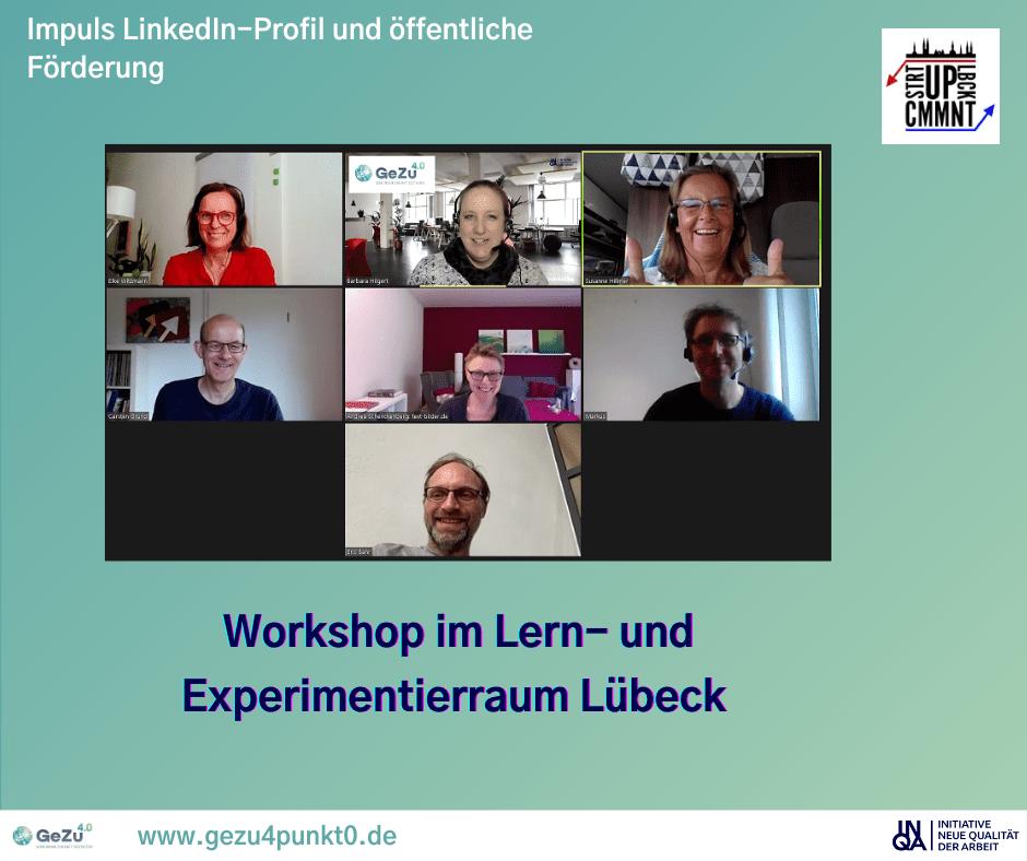 Optimierung des LinkedIn-Profils und öffentliche Förderung im LEX Lübeck
